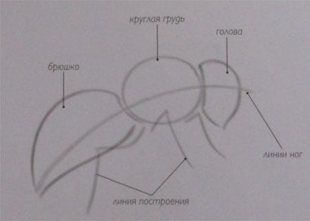 Рисуем пчелу - шаг 1