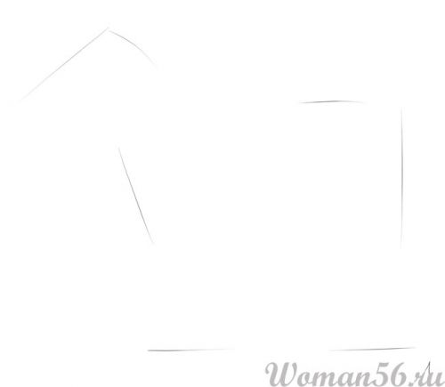 Рисуем пони лошадь - шаг 1