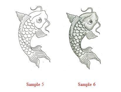 Рисуем рыбу карп