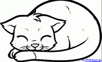 Фотография спящего котенка