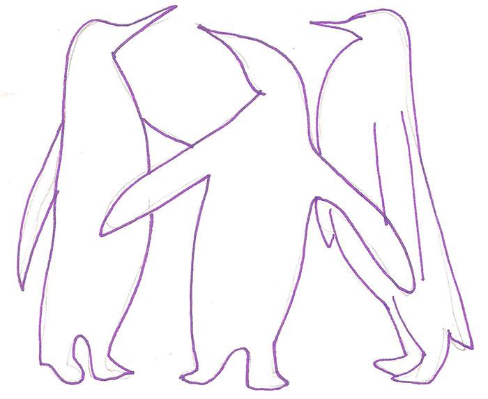 Рисуем трех пингвинов - шаг 3