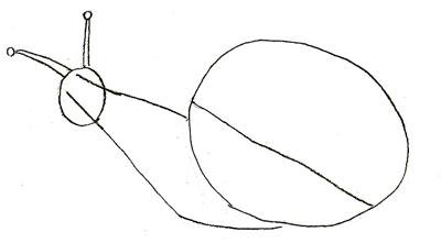 Рисуем улитку - шаг 2