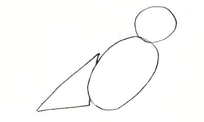 Рисуем воробья - шаг 1