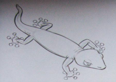 Как легко нарисовать ящерицу - фото 3