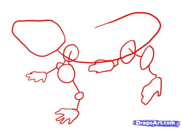 Как нарисовать Ящерицу карандашом поэтапно
