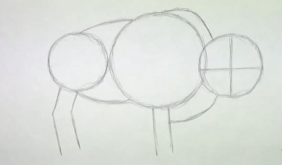 Рисуем зубра простым  шаг за шагом