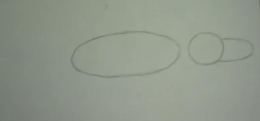 Рисуем крокодила - шаг 1