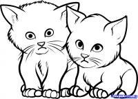 Как рисовать котят