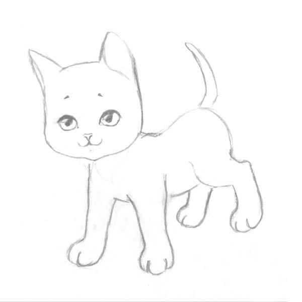 Рисуем котенка - шаг 4