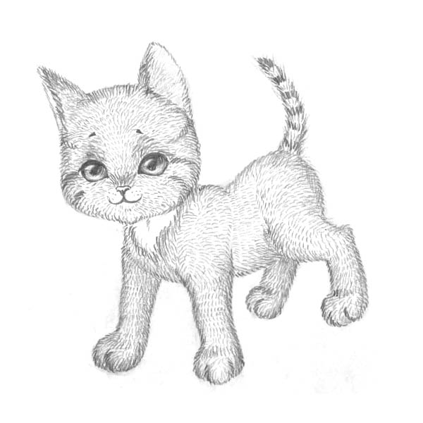 Рисуем котенка - шаг 8