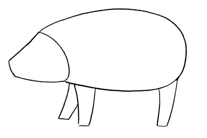 Как просто нарисовать свинку - фото 1