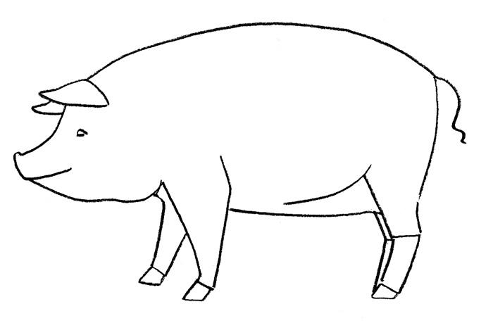 Как просто нарисовать свинку - фото 2