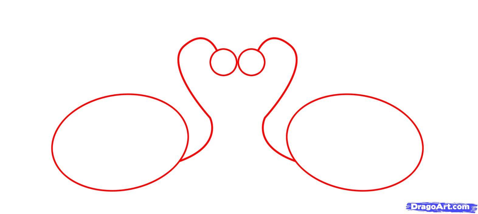 Как правильно схема нарисовать лебедя