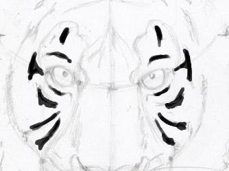 Рисуем морду тигра - шаг 10