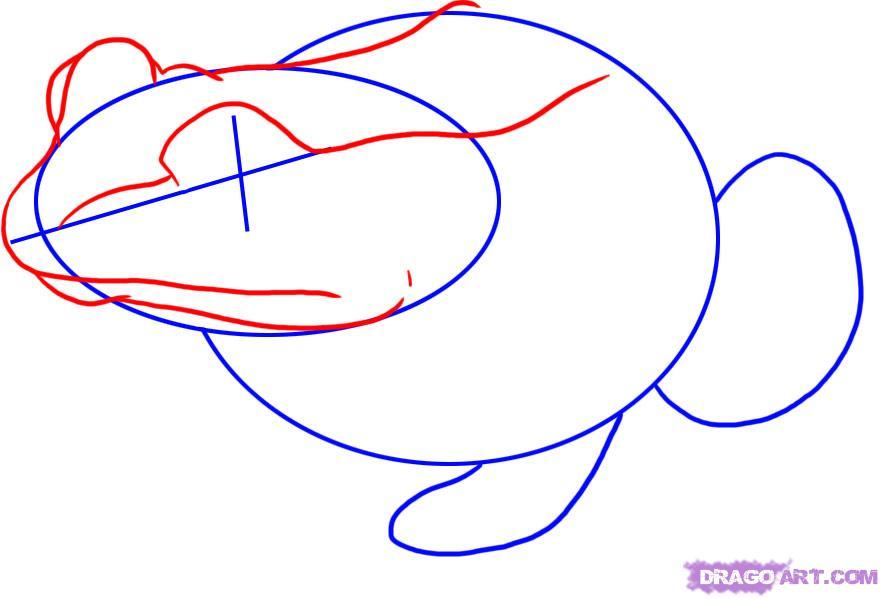 Рисуем лягушку   для начинающих - фото 2