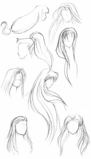 Как нарисовать развивающиеся на ветру волосы