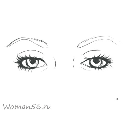 Как просто нарисовать женские глаза - шаг 12