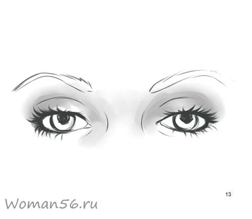 Как просто нарисовать женские глаза - шаг 13