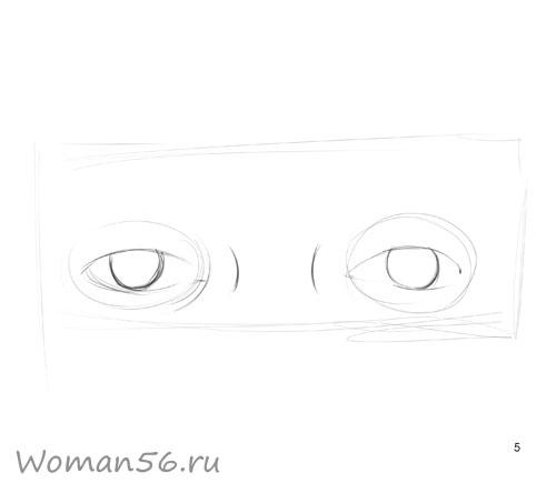 Как просто нарисовать женские глаза - шаг 5