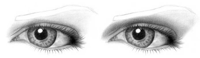 Учимся рисовать глаза человека - шаг 10