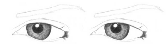 Учимся рисовать глаза человека - шаг 4