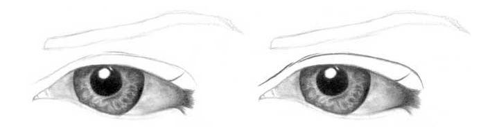 Учимся рисовать глаза человека - шаг 6
