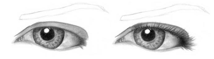 Учимся рисовать глаза человека - шаг 8