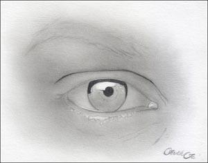 Рисуем реалистичный глаз девушки - шаг 5