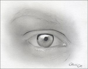 Рисуем реалистичный глаз девушки - шаг 6