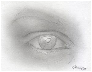 Рисуем реалистичный глаз девушки - шаг 3