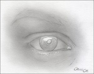 Рисуем реалистичный глаз девушки - шаг 4