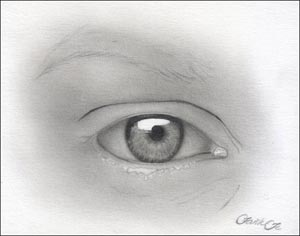 Рисуем реалистичный глаз девушки - шаг 8