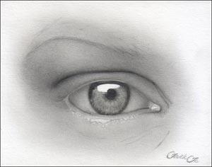 Рисуем реалистичный глаз девушки - шаг 9