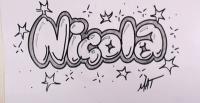 Как красиво нарисовать имя Nicola карандашом