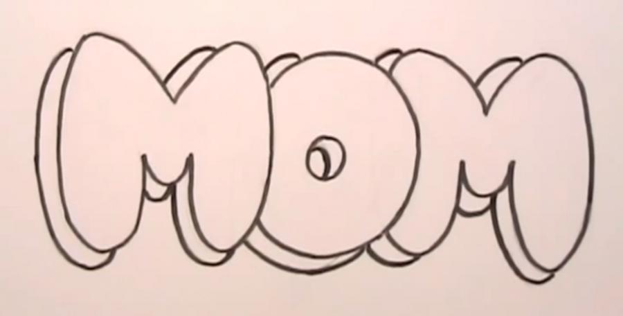 Bubble Letters I Love You Coloring Pages