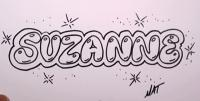 Как красиво нарисовать слово Suzanne карандашом