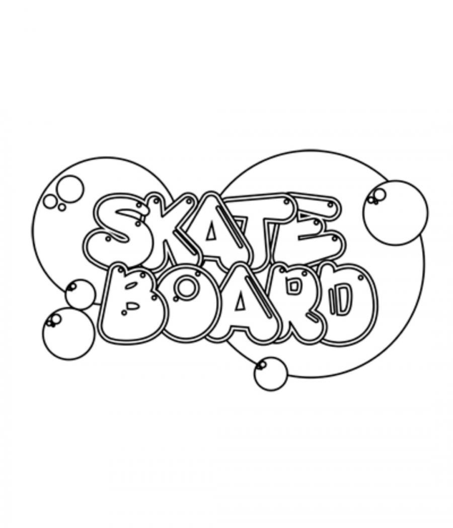 Как красиво нарисовать слово skateboard на бумаге