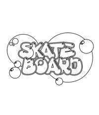 Как красиво нарисовать слово skateboard на бумаге карандашом