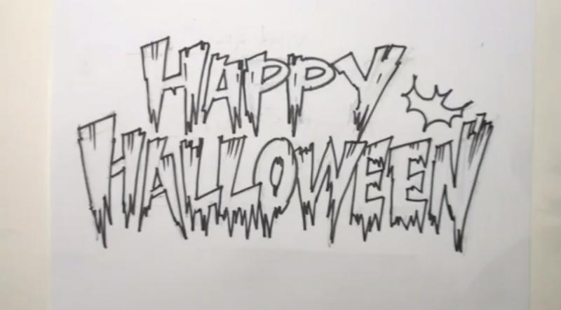 рисунки на хэллоуин: