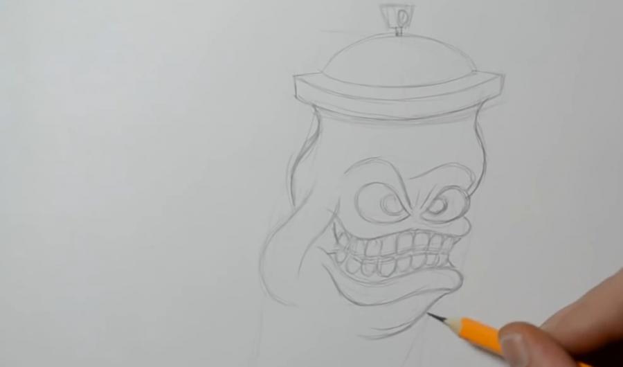 Рисуем баллончик в стиле граффити
