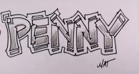 Фото граффити имя Penny карандашом