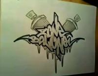 Фотография граффити на бумаге