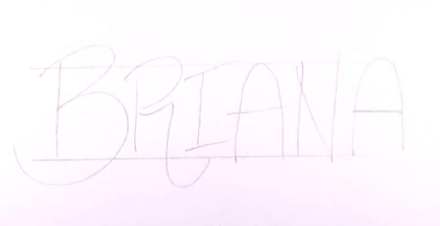 имя аня написанное карандашом