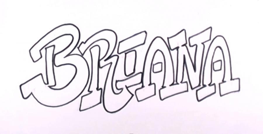 Рисовать карандашом имя поэтапно