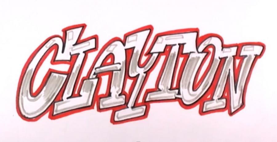 Рисуем имя Clayton (Клейтон)