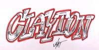 имя Clayton (Клейтон) карандашом