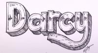 Как нарисовать имя Darcy на бумаге карандашом поэтапно