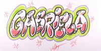 имя Gabriela на бумаге карандашом