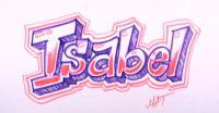 Фото имя Isabel (Изабель) карандашом