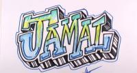 имя Jamal на бумаге карандашом